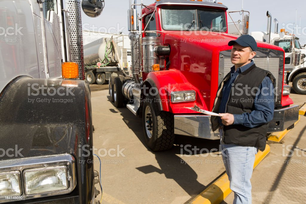 Inspection Before Driving royalty-free stock photo