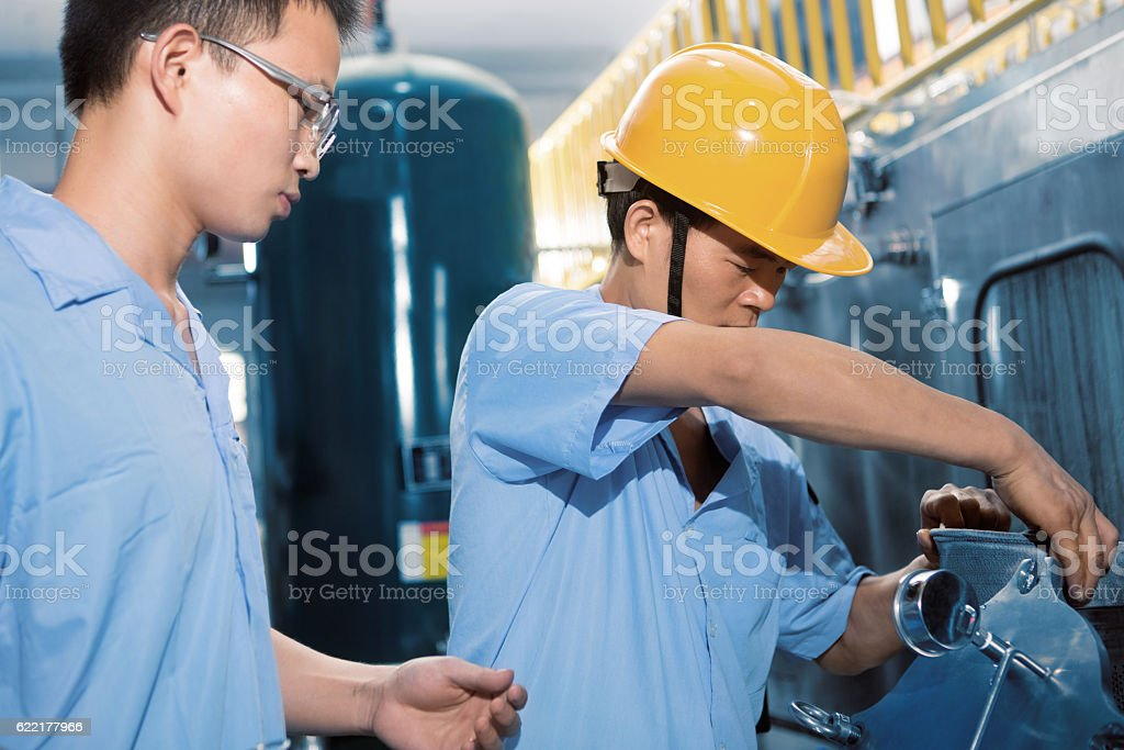 Inspection group stock photo