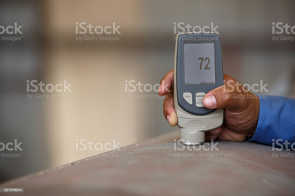 Inspection surface profile stock photo