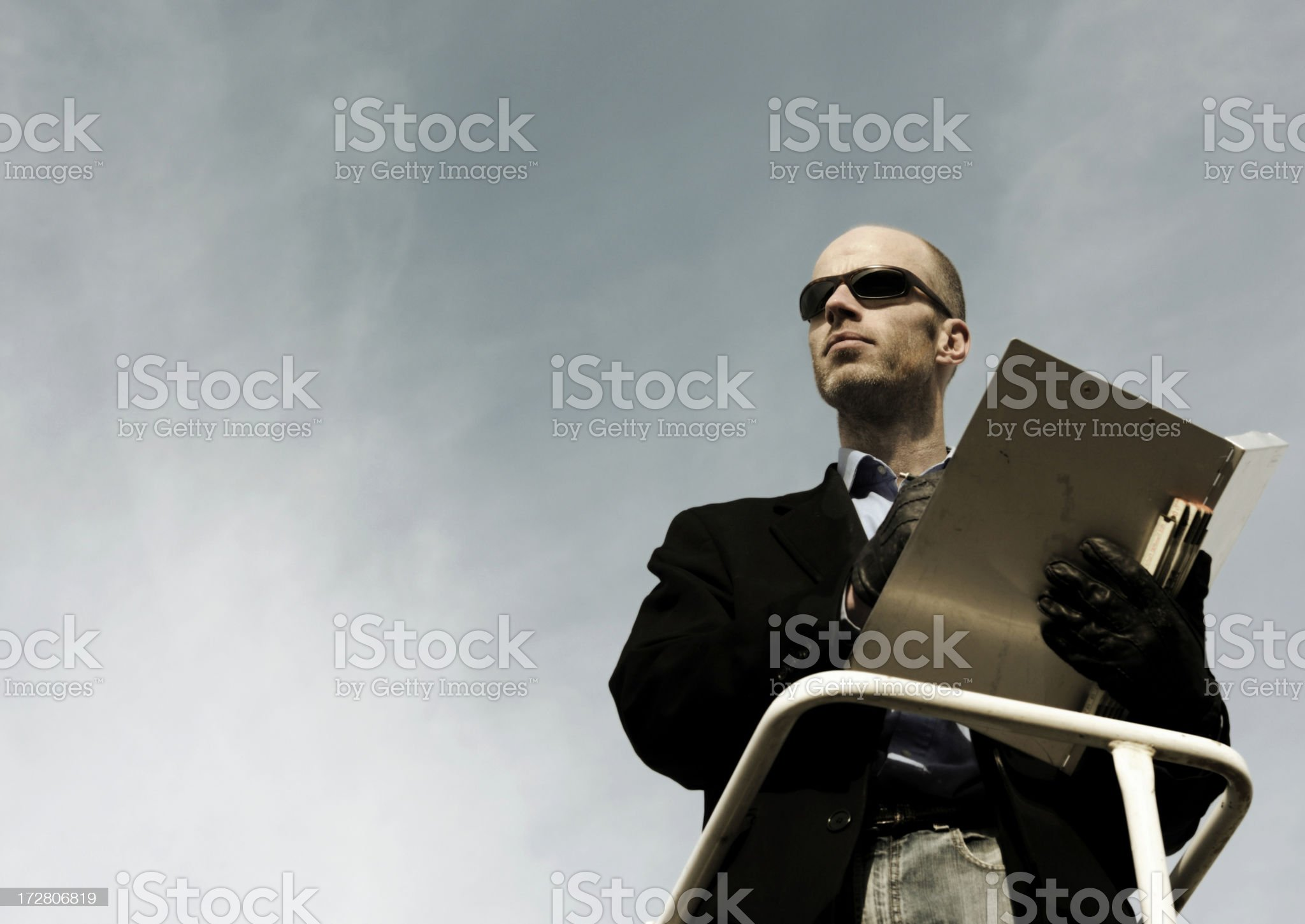 inspector control royalty-free stock photo