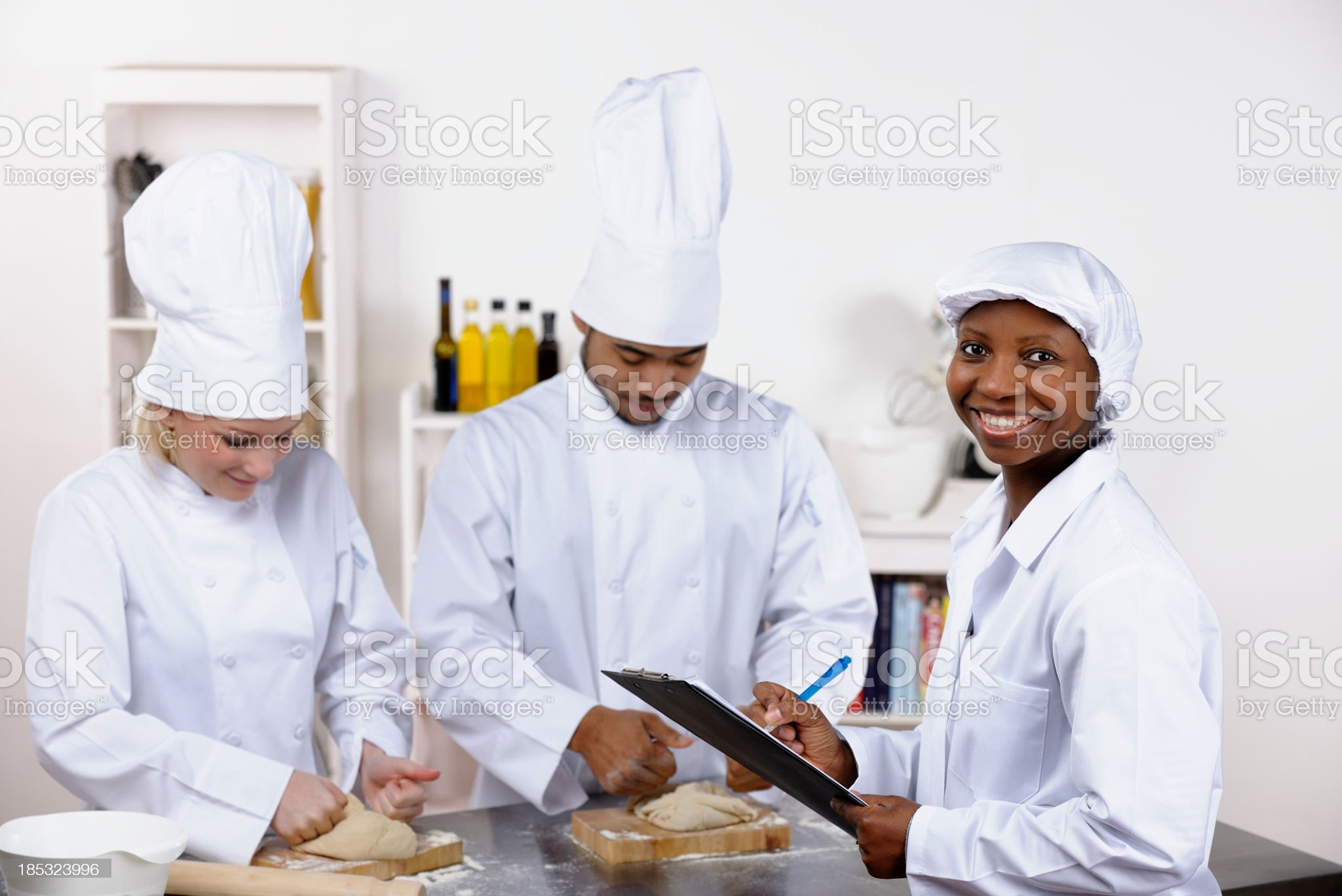 Inspector Impressed With Outcome Of  Inspection In A Commercial Kitchen royalty-free stock photo