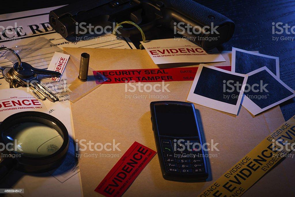 Inspector's desk stock photo