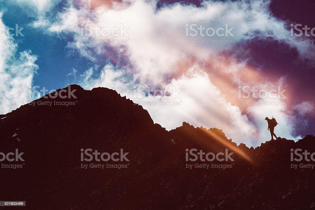 inspiration motion man landscape sky stock photo