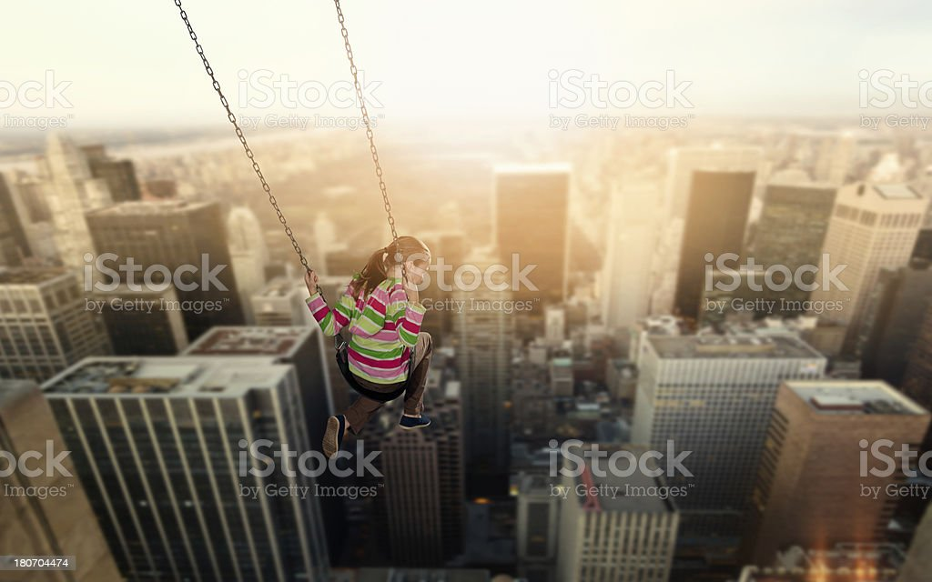 Inspiration overcomes fear royalty-free stock photo