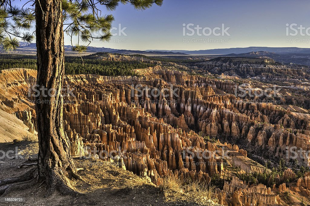 Inspiration Point at Bryce Canyon National Park stock photo