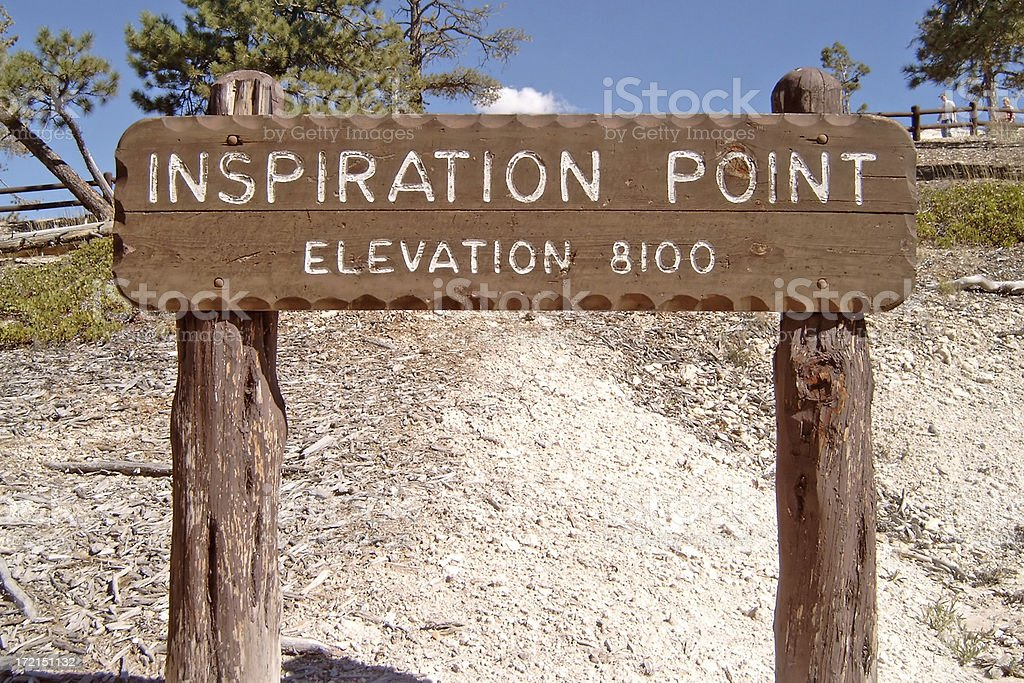 Inspiration point royalty-free stock photo