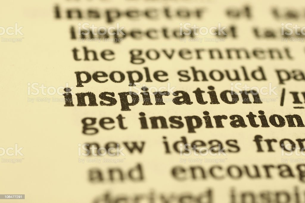 Inspiration word close up royalty-free stock photo