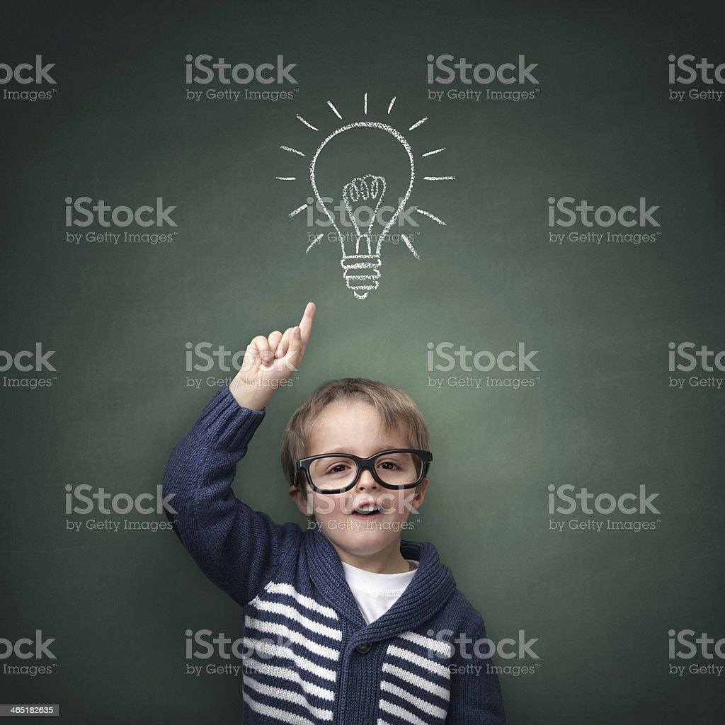 Inspirational idea stock photo