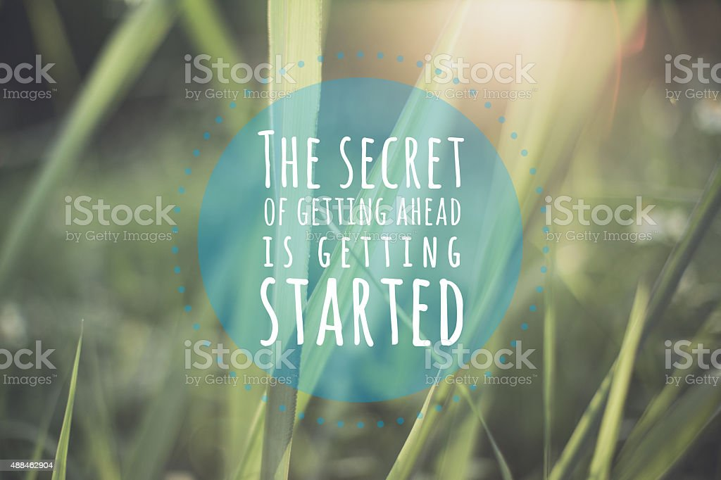 Inspirational quote stock photo