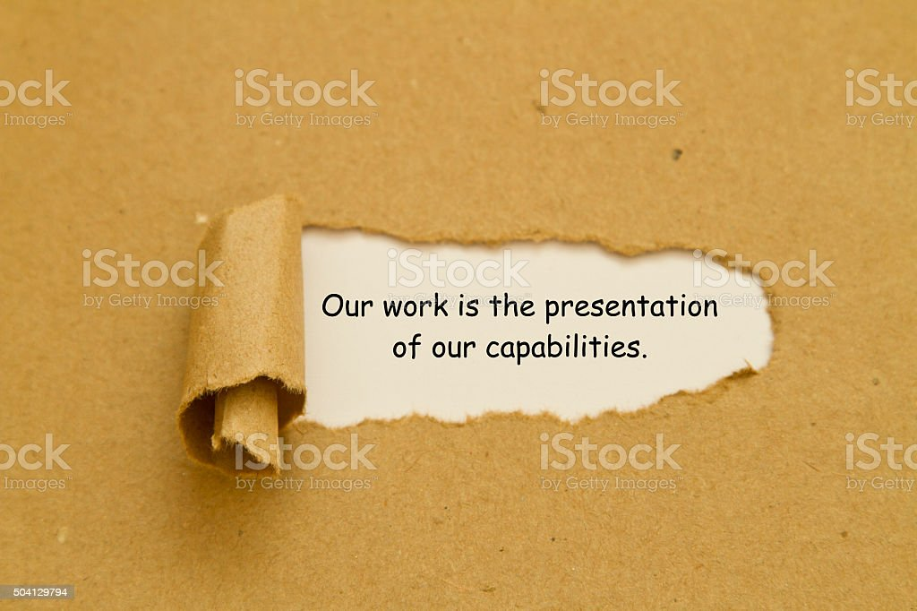 inspirational quote torn paper concept stock photo