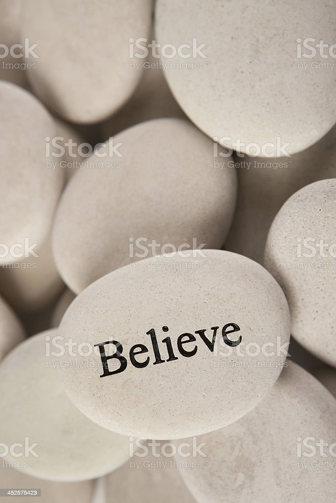 Inspirational stone royalty-free stock photo