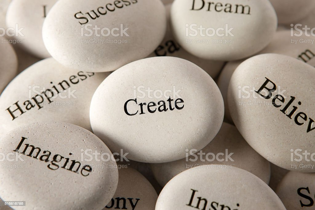 Inspirational stones - Create stock photo