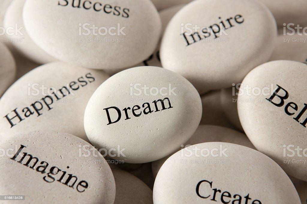 Inspirational stones - Dream stock photo