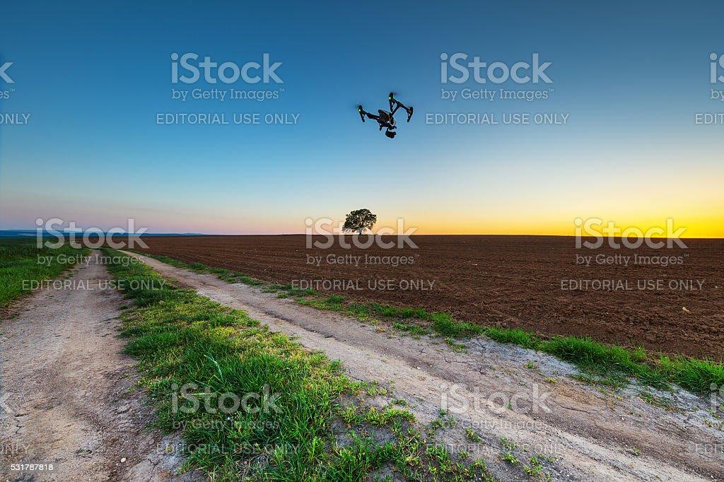 Varna, Bulgaria - April 21, 2016: DJI Inspire 1 drone stock photo