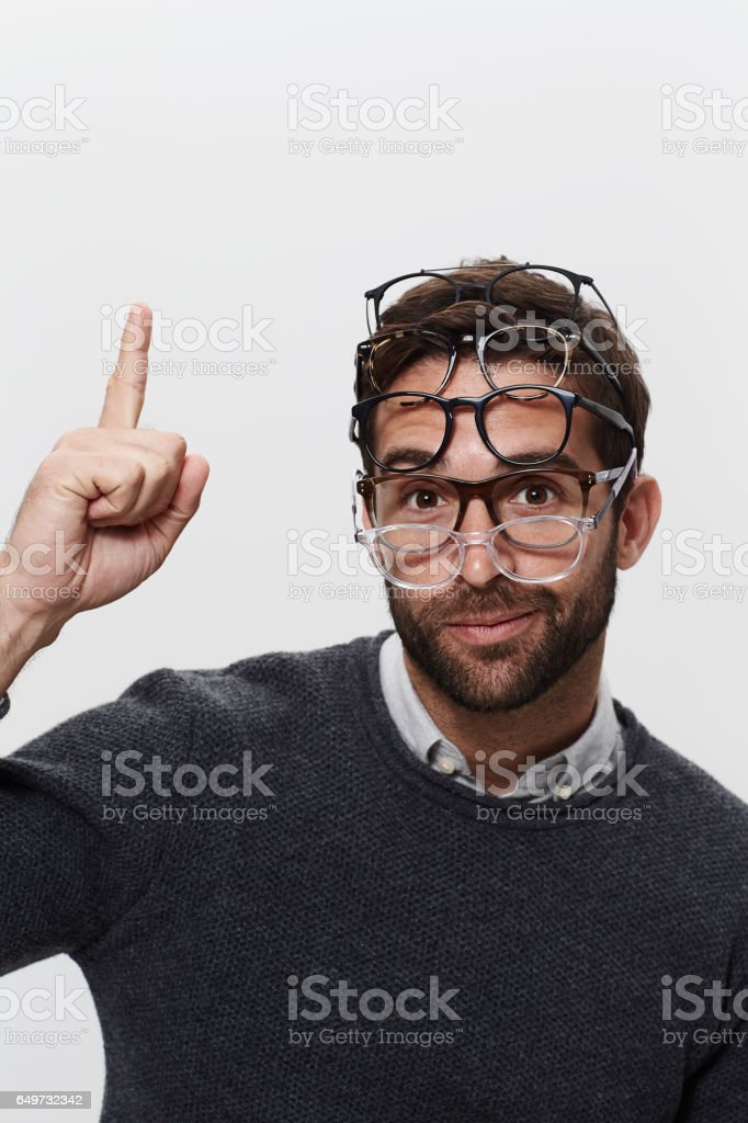 Inspired by glasses stock photo