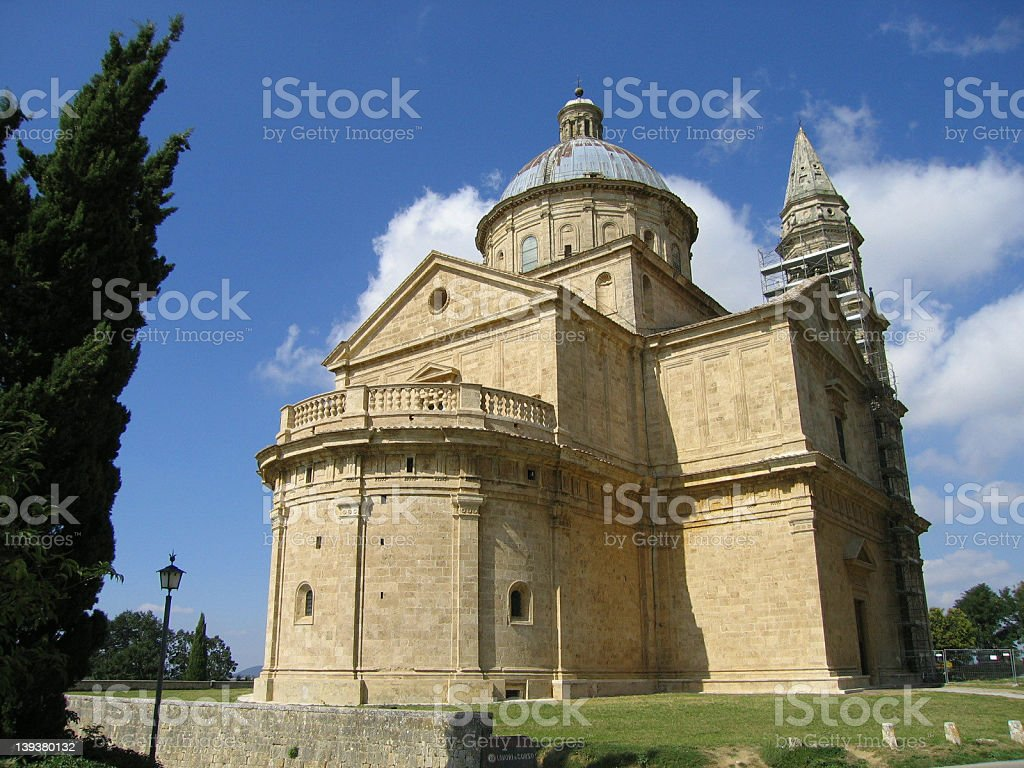 Inspiring church in Montepulciano, Italy royalty-free stock photo