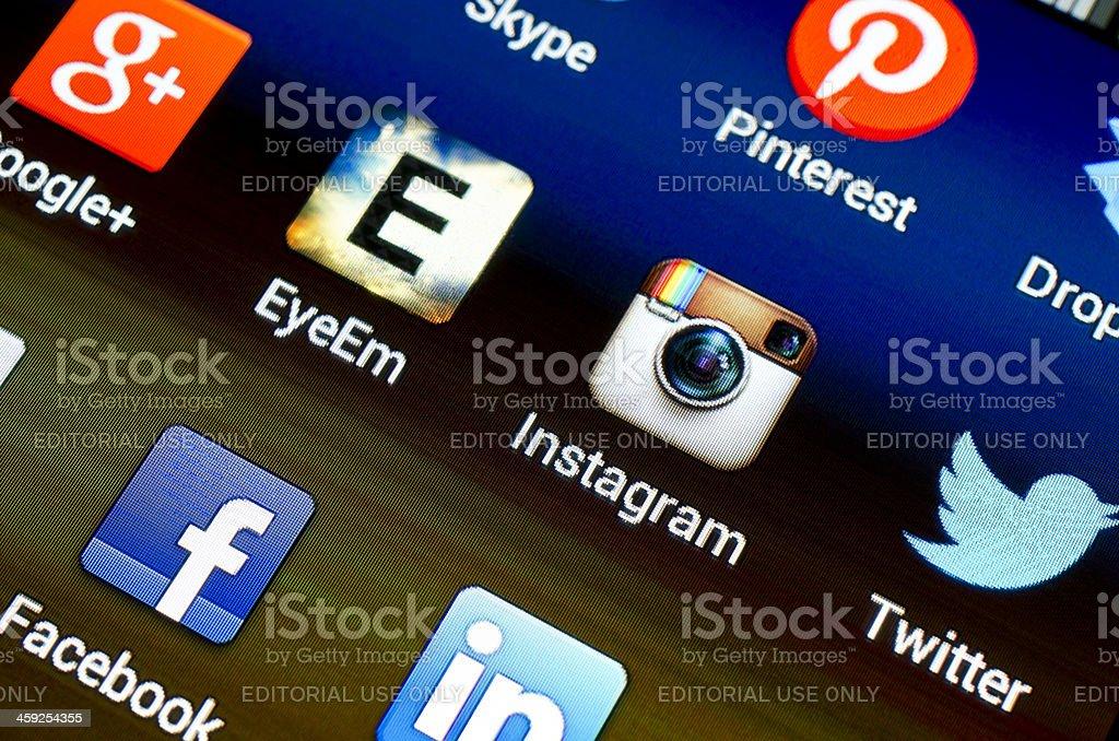 Instagram and EyeEm royalty-free stock photo