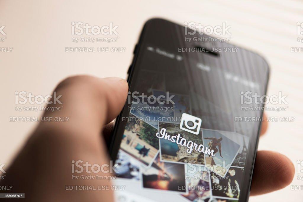 Instagram app on Apple iPhone 5 royalty-free stock photo