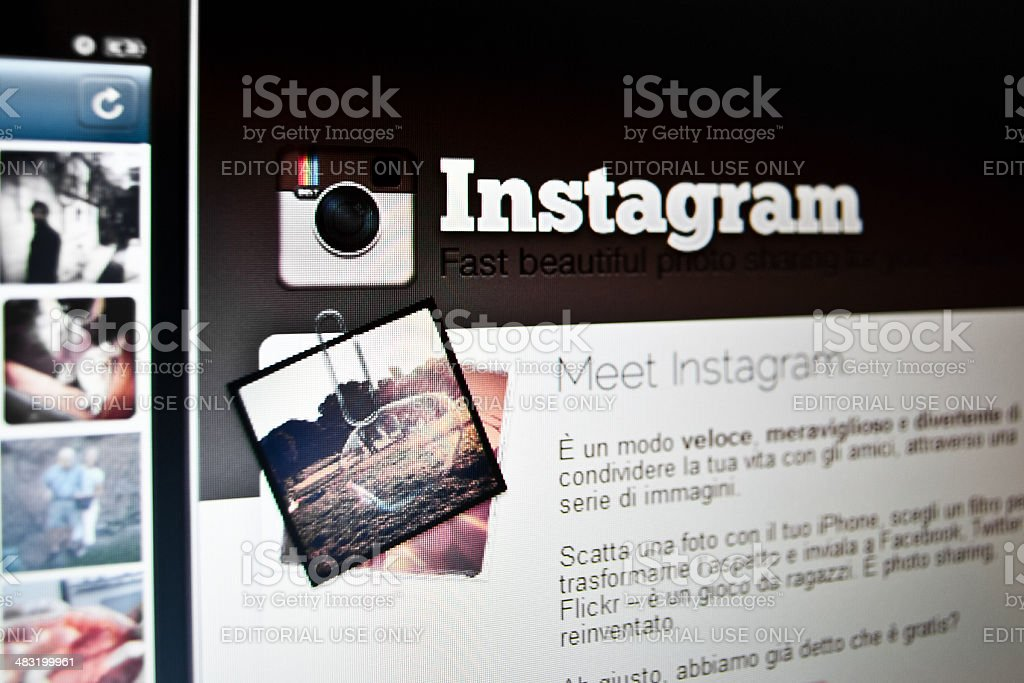 Instagram Home Page royalty-free stock photo
