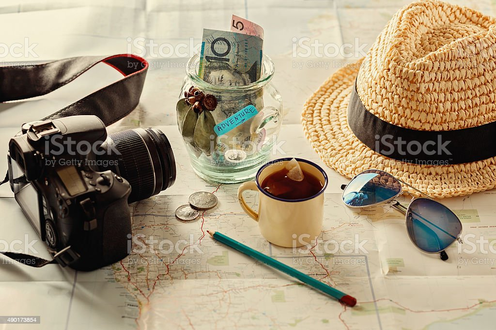 Instagram looking image of travelling concept stock photo