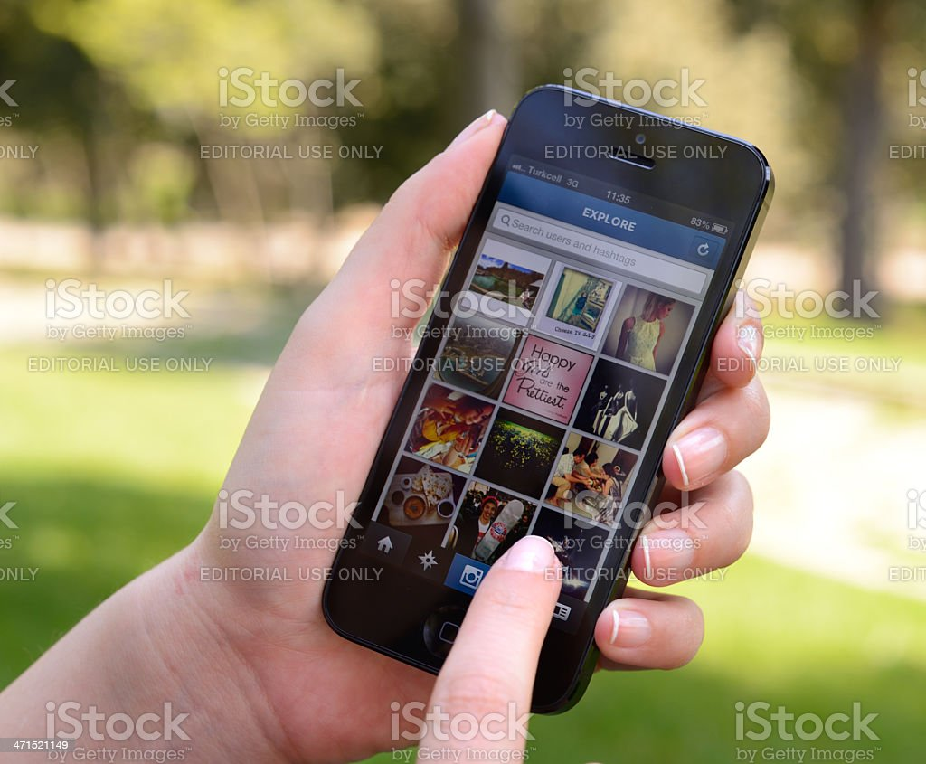 Instagram on iPhone 5 royalty-free stock photo