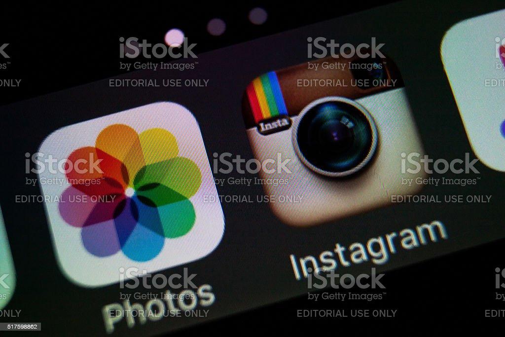 Instagram stock photo
