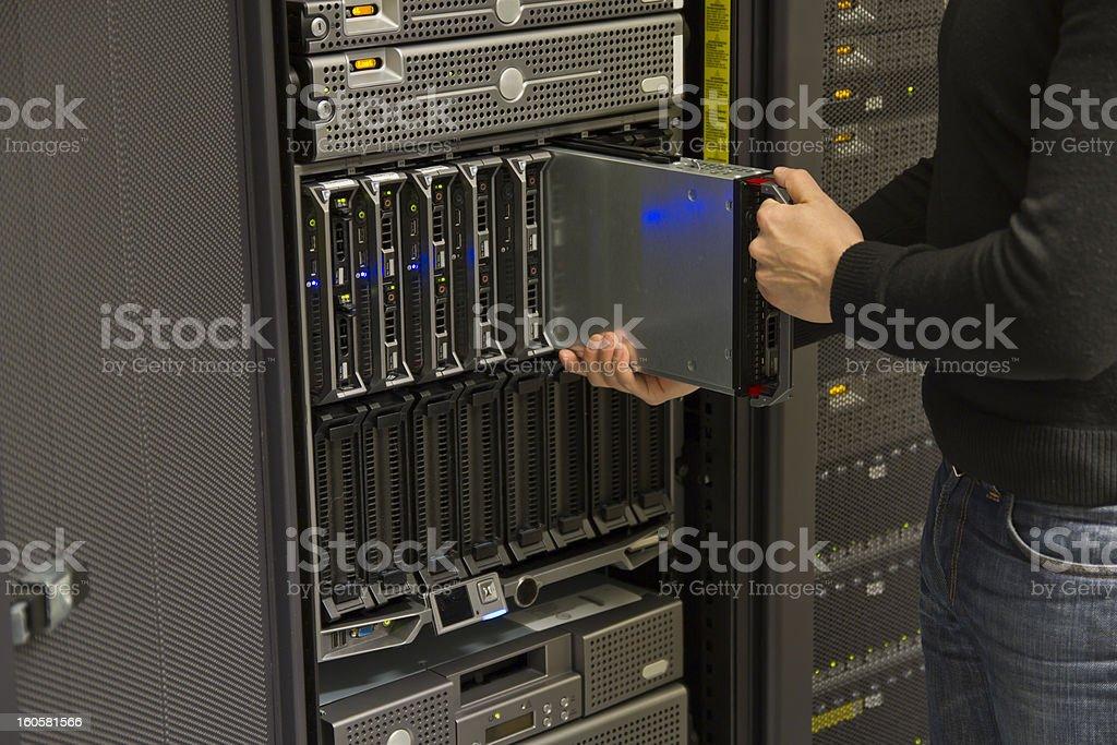 Install Blade Server stock photo