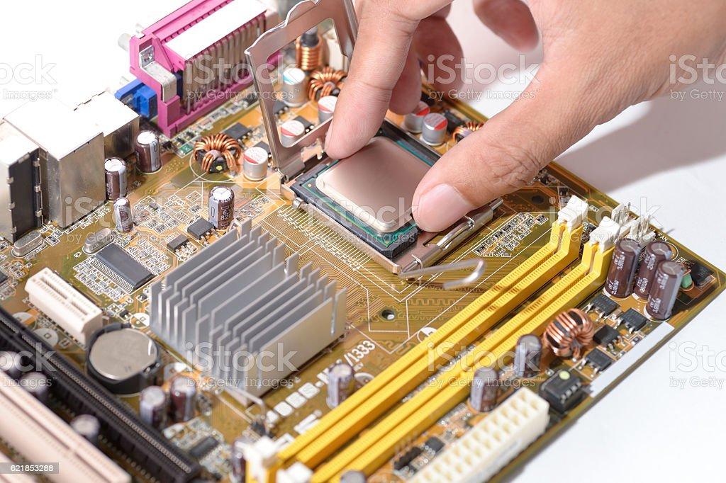 install cpu stock photo