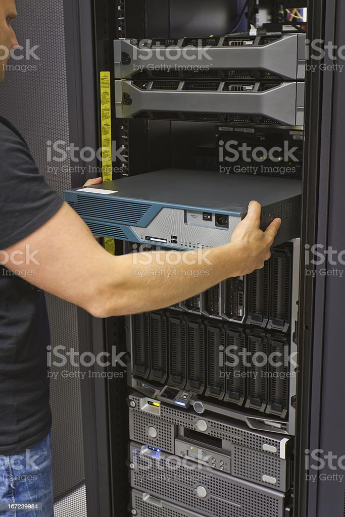Install Network Router royalty-free stock photo