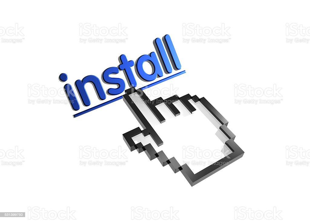 install stock photo