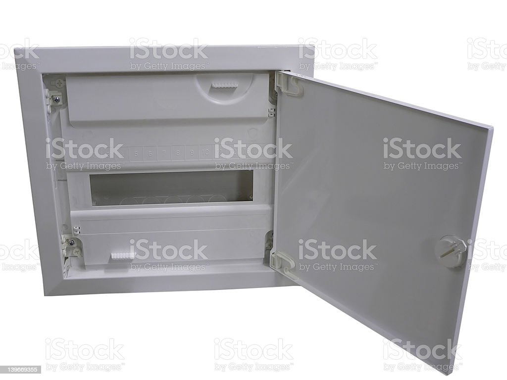 Installation box stock photo