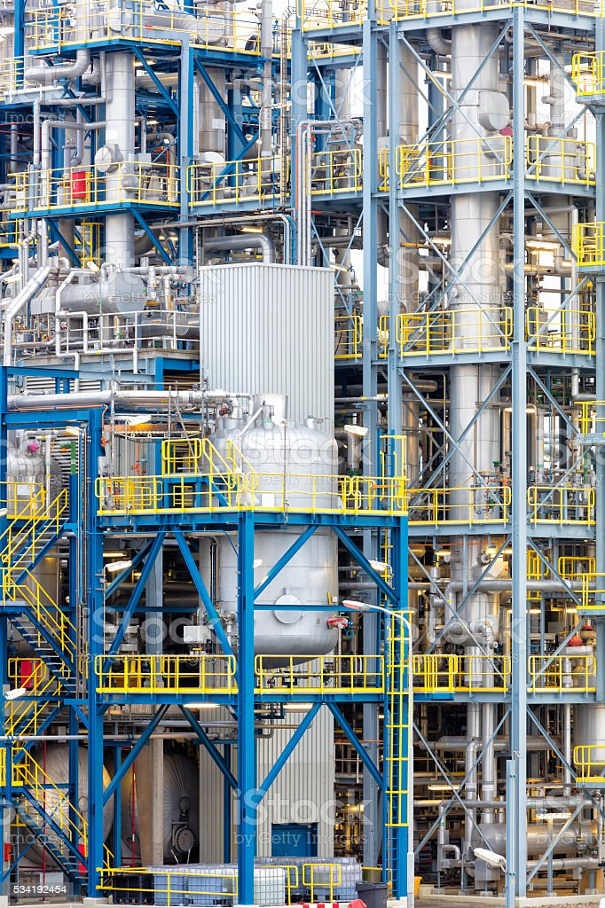 Installations at Petrochemical Plant stock photo