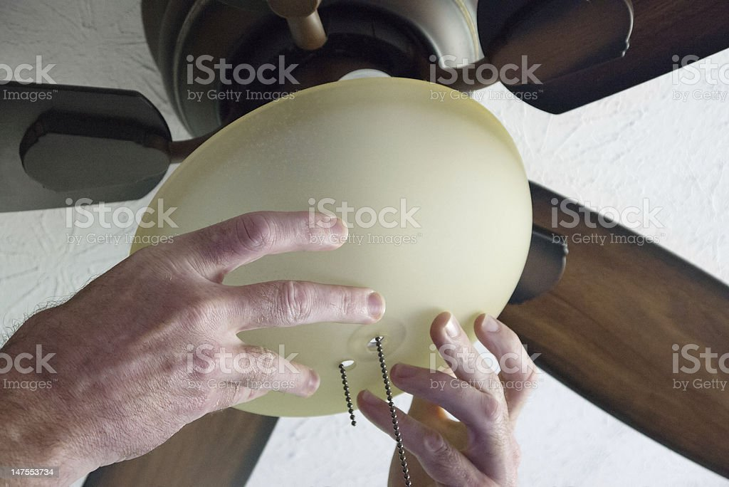 Installing Fan stock photo