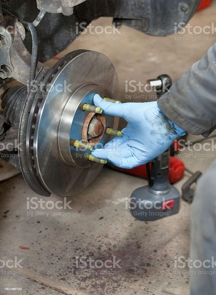 installing new rotors stock photo