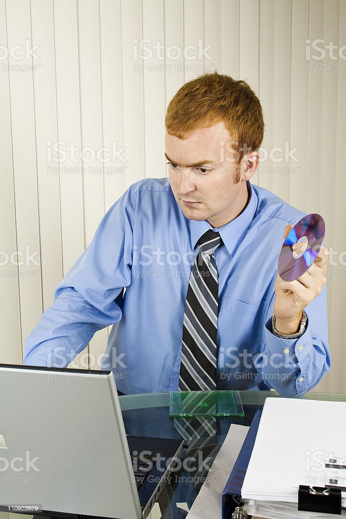 Installing software royalty-free stock photo