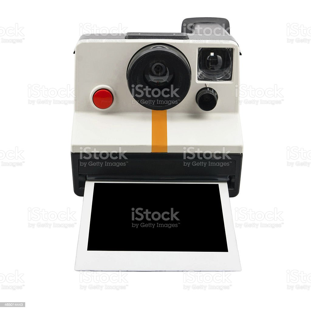 Instant camera and photo stock photo
