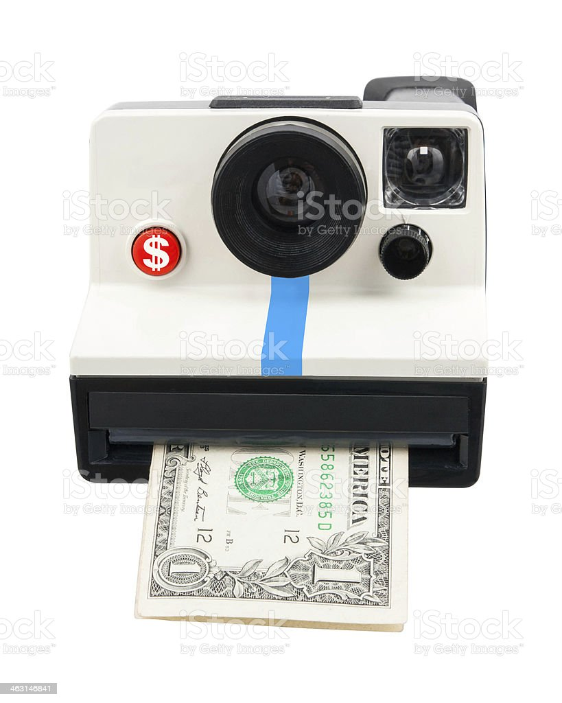 Instant cash stock photo