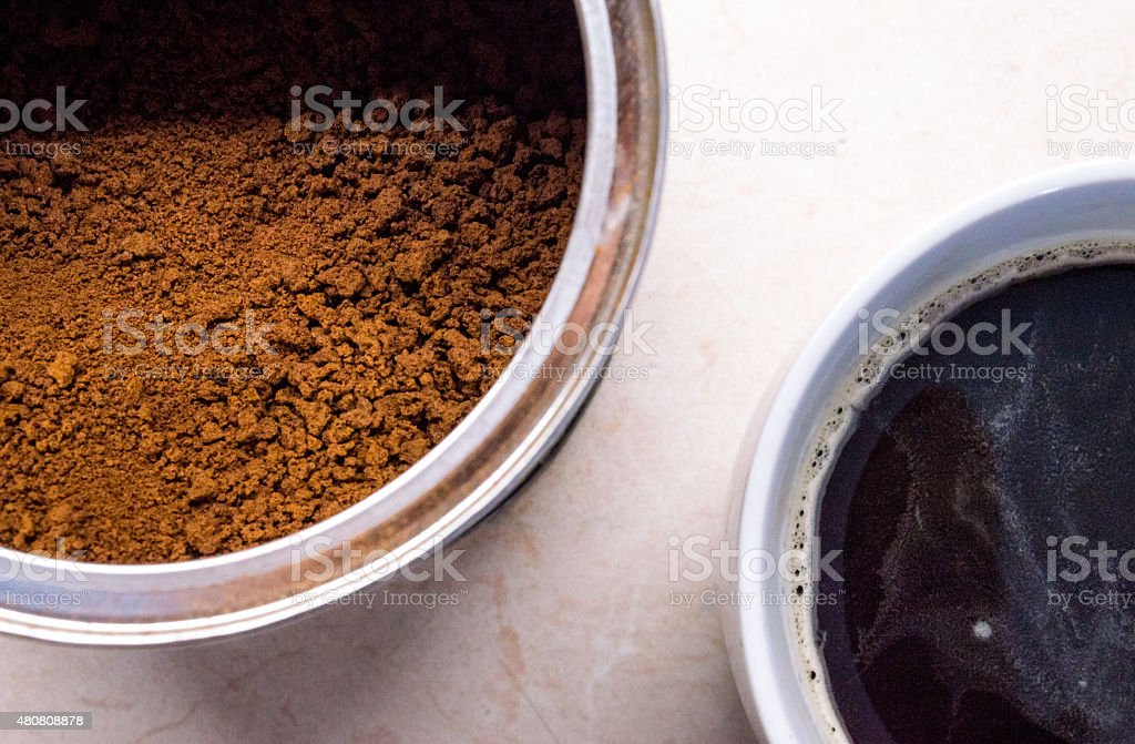 Instant Coffee Granules/Powder and Coffee royalty-free stock photo