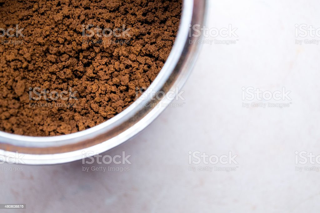 Instant Coffee Granules/Powder in a Tin royalty-free stock photo