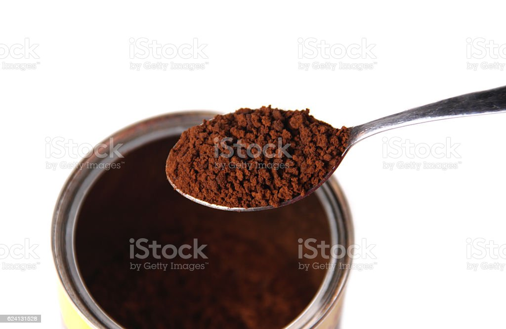 Instant coffee stock photo