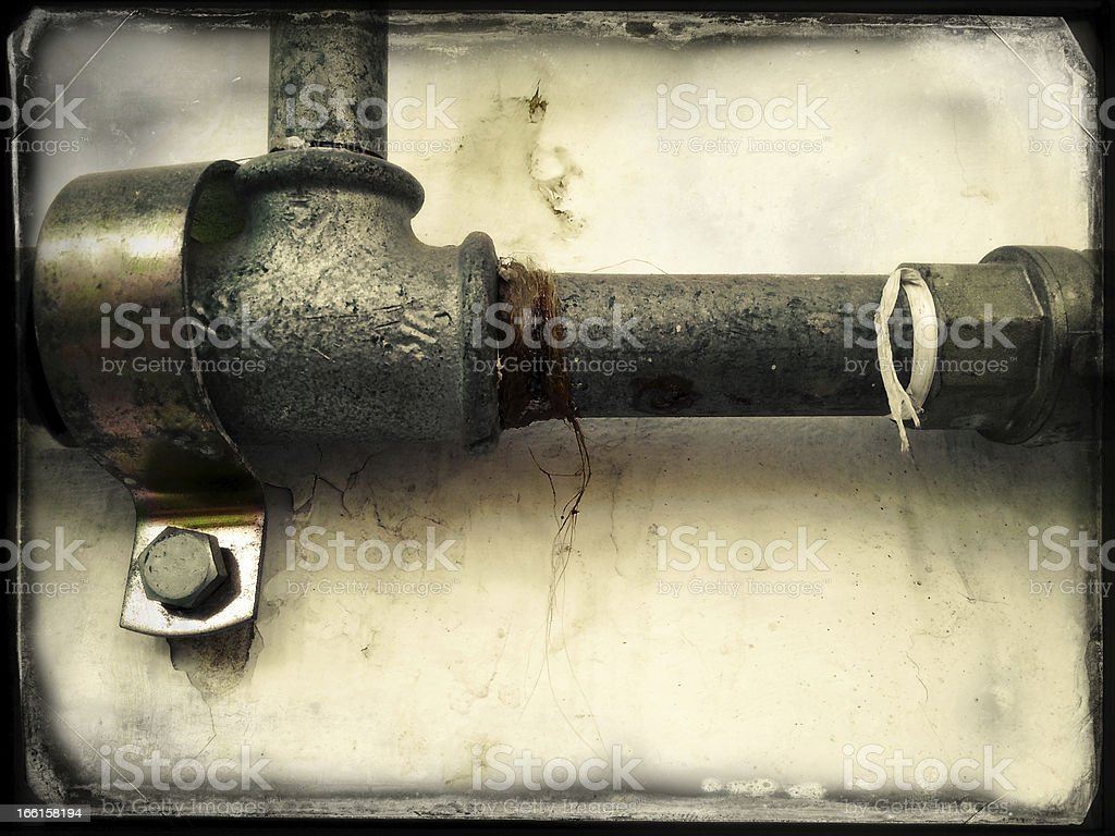 Instant Film Plumbing Pipes stock photo