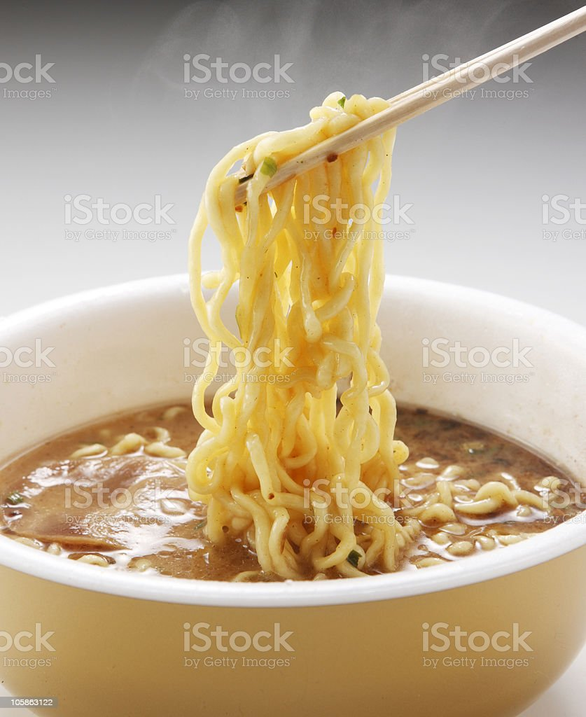 Instant noodle royalty-free stock photo