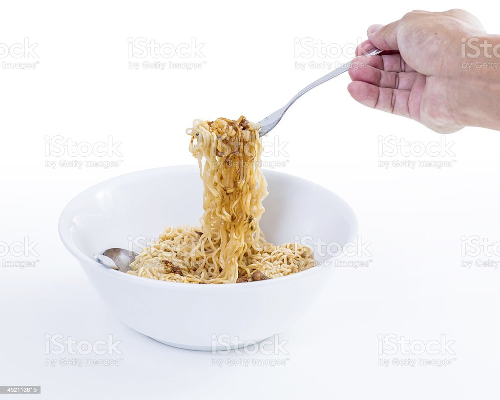 Instant noodles royalty-free stock photo
