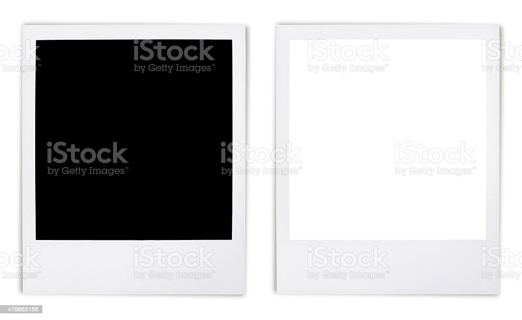Instant Photo Frame Variation (with 2 paths) stock photo