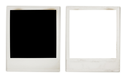 instant photo frame variation with 2 paths stock photo
