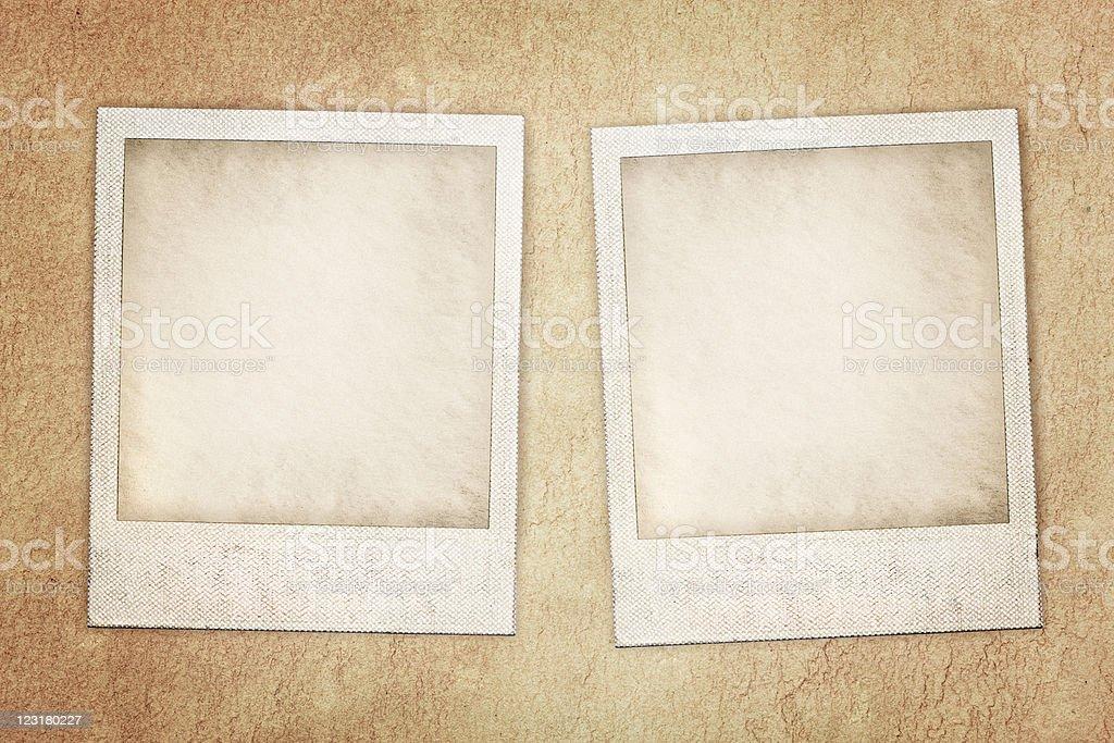 instant photo prints stock photo