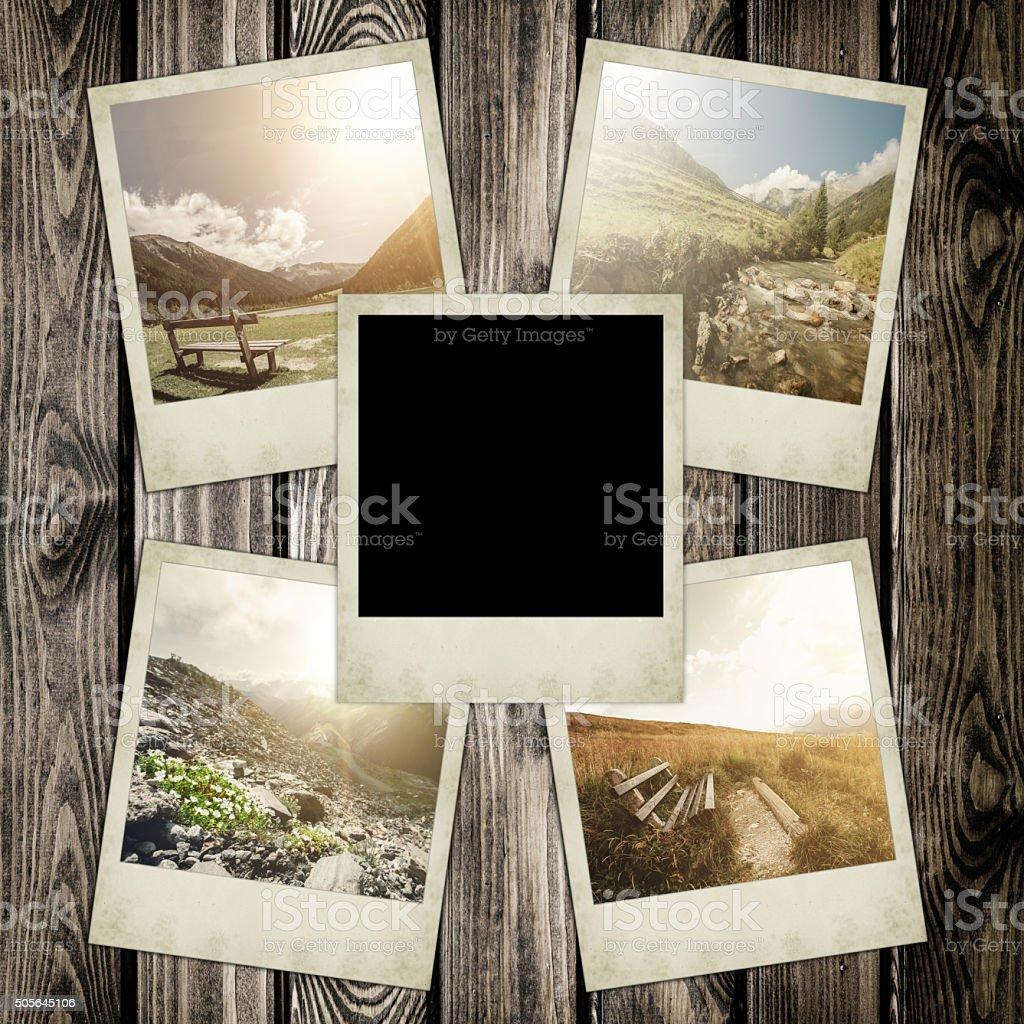 Instant polaroid photo stock photo