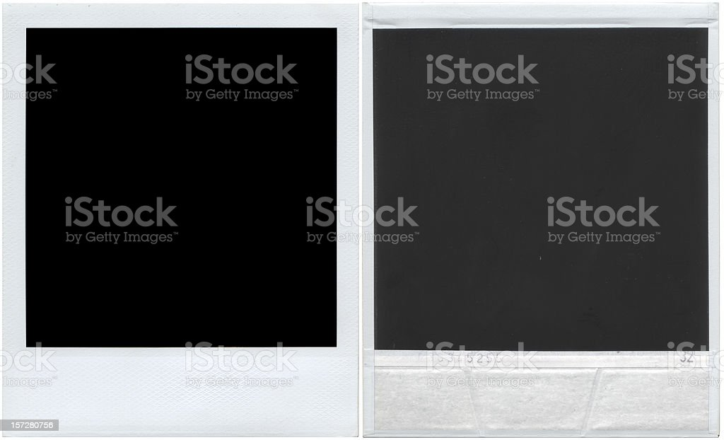 Instant print (Hi Res front and back) royalty-free stock photo