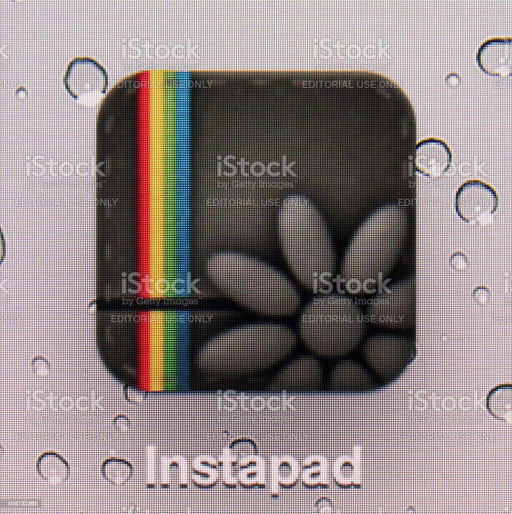 Instapad. stock photo