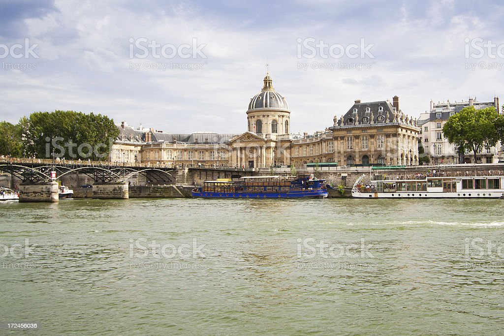 Institut de France and Pont des Arts, Paris. royalty-free stock photo